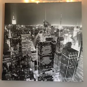New York sparkly canvas